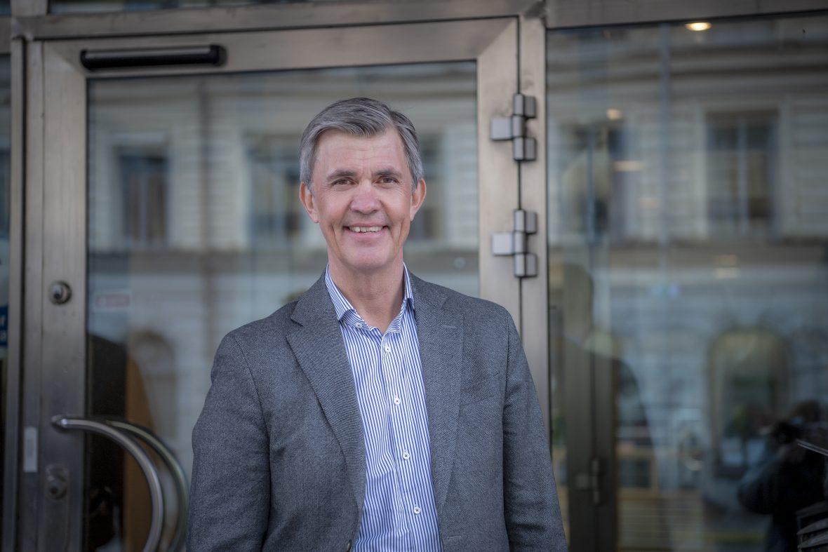 Porträttbild av Patrik EIdfelt, förbundsordförande i Kompetensföretagen
